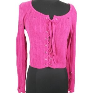 2/$20 Rue21 Cropped Corset Distressed Sweater